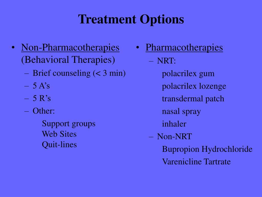 Non-Pharmacotherapies