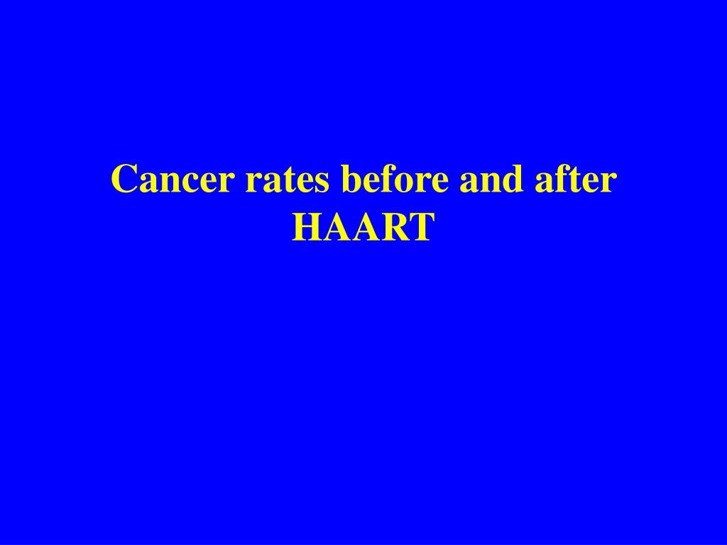 Cancer rates before and after HAART