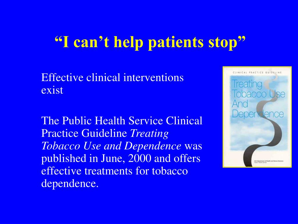 """""""I can't help patients stop"""""""