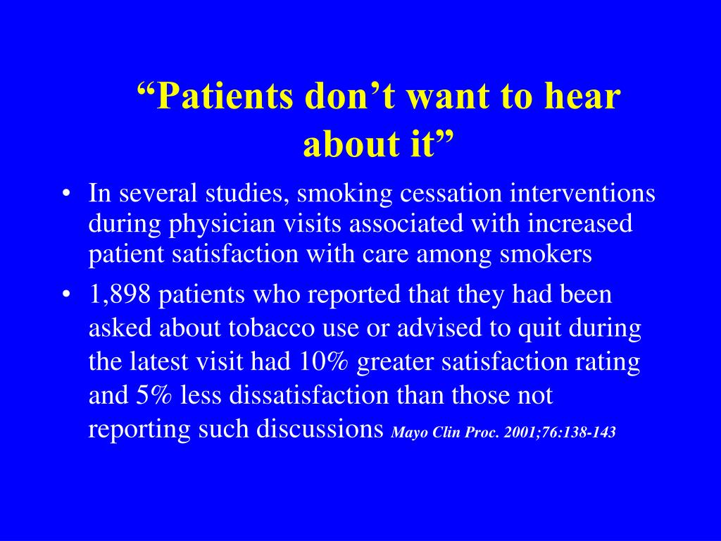 """""""Patients don't want to hear"""