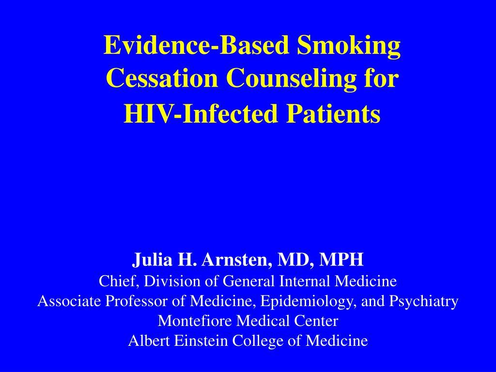Evidence-Based Smoking