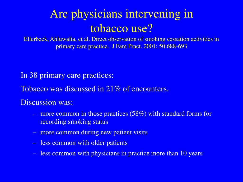 Are physicians intervening in