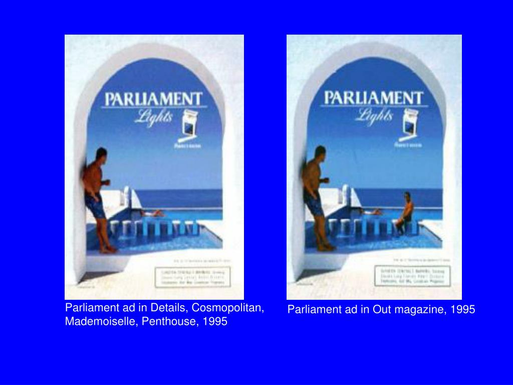 Parliament ad in Details, Cosmopolitan, Mademoiselle, Penthouse, 1995