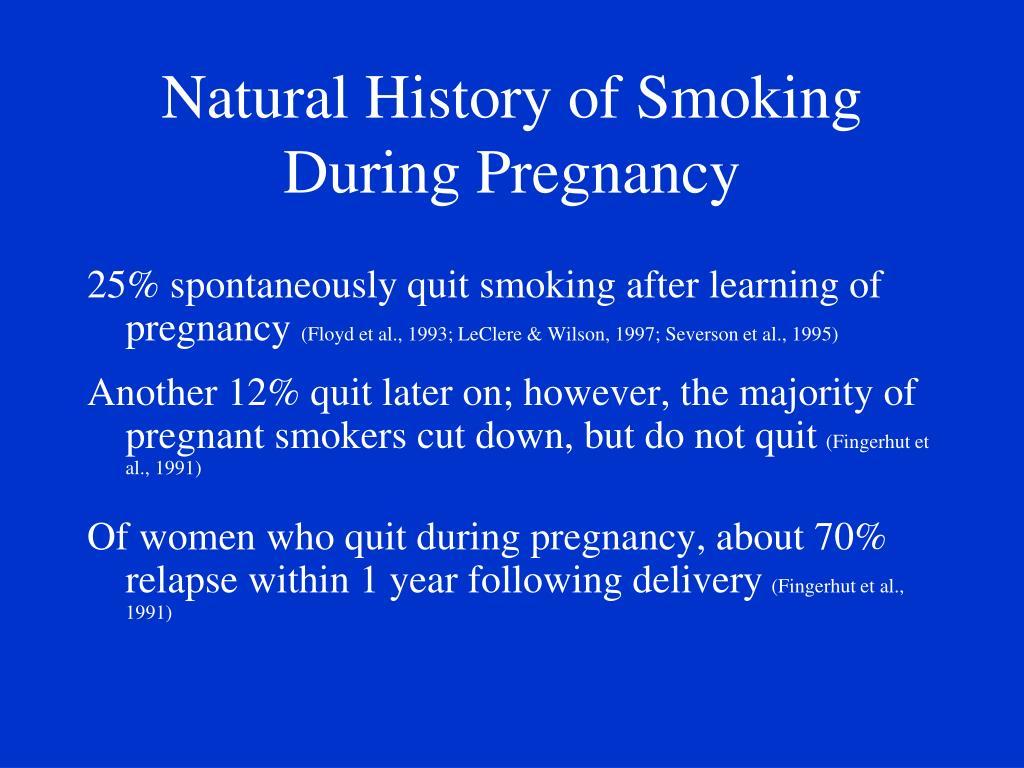 Natural History of Smoking During Pregnancy