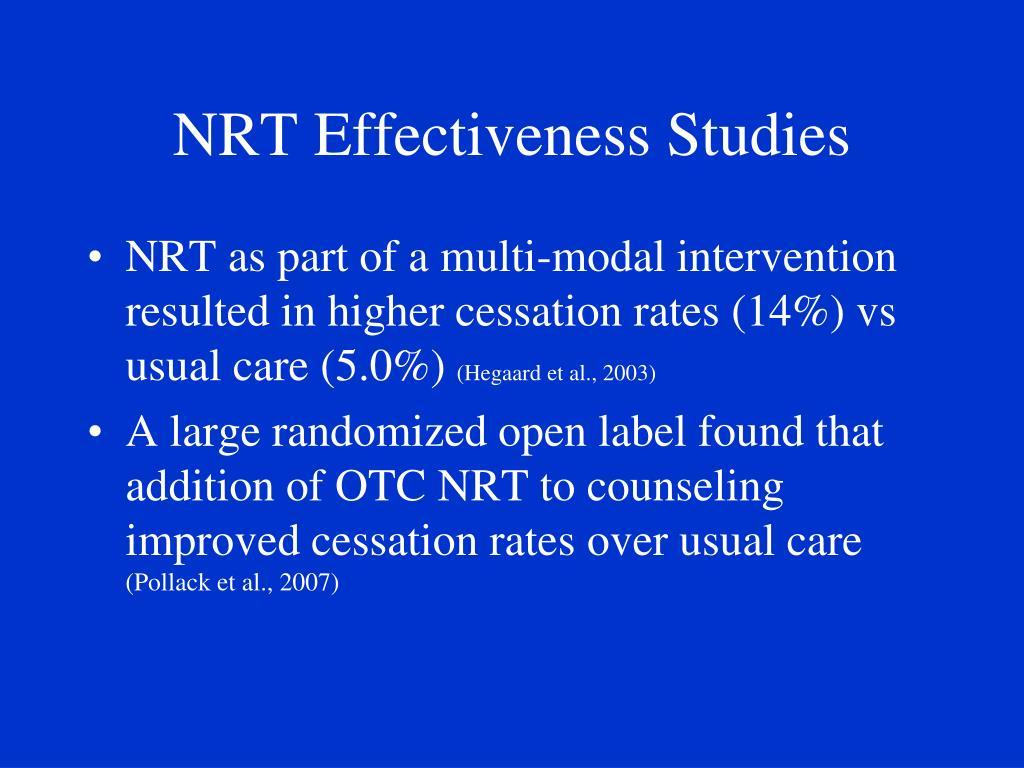 NRT Effectiveness Studies