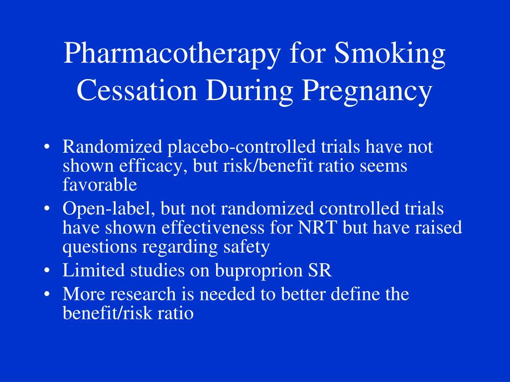 Pharmacotherapy for Smoking Cessation During Pregnancy