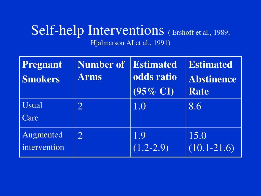 Self-help Interventions