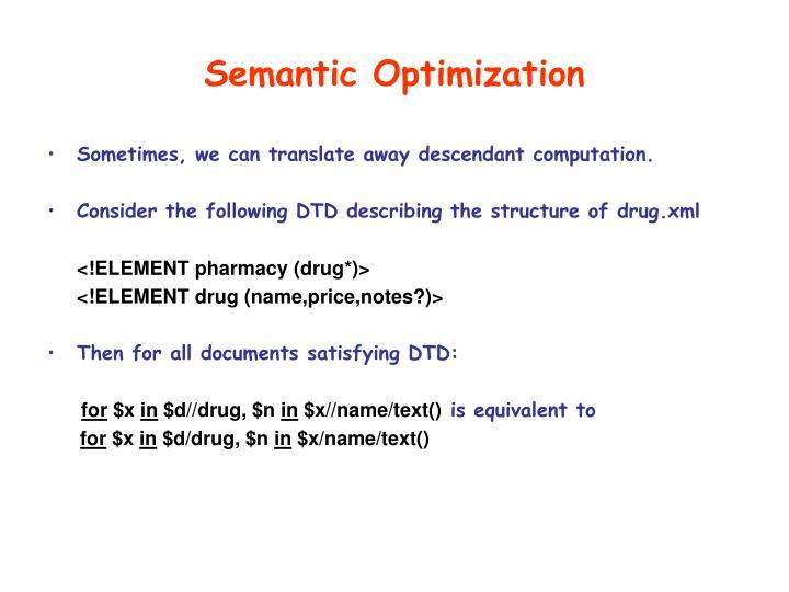 Semantic Optimization