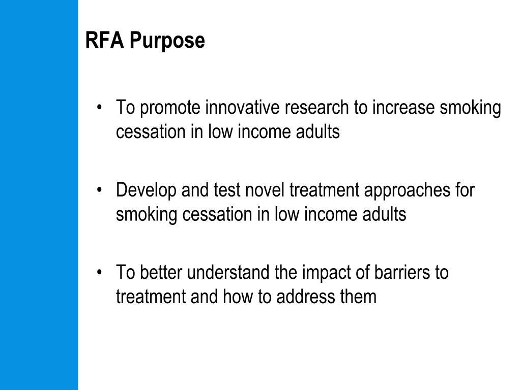 RFA Purpose