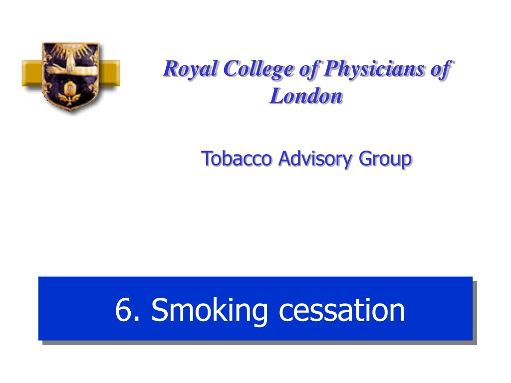 6. Smoking cessation