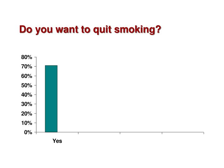 Do you want to quit smoking