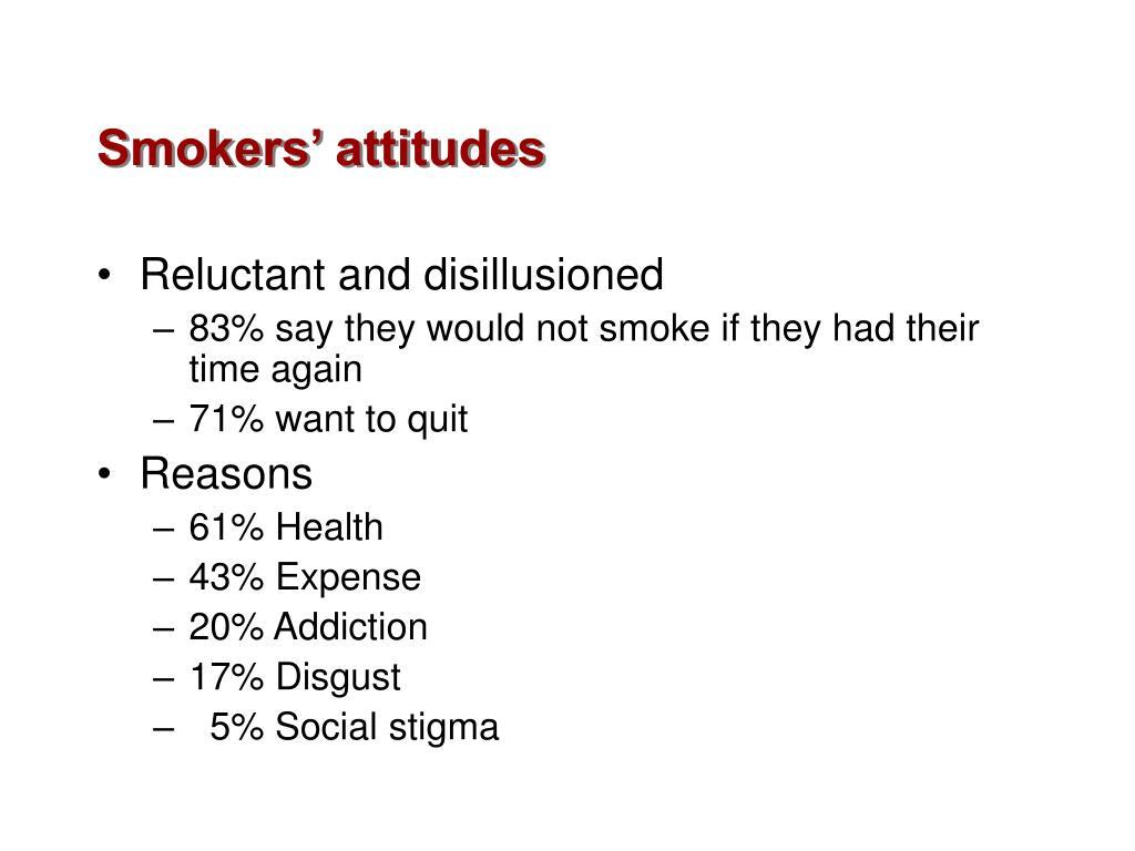 Smokers' attitudes