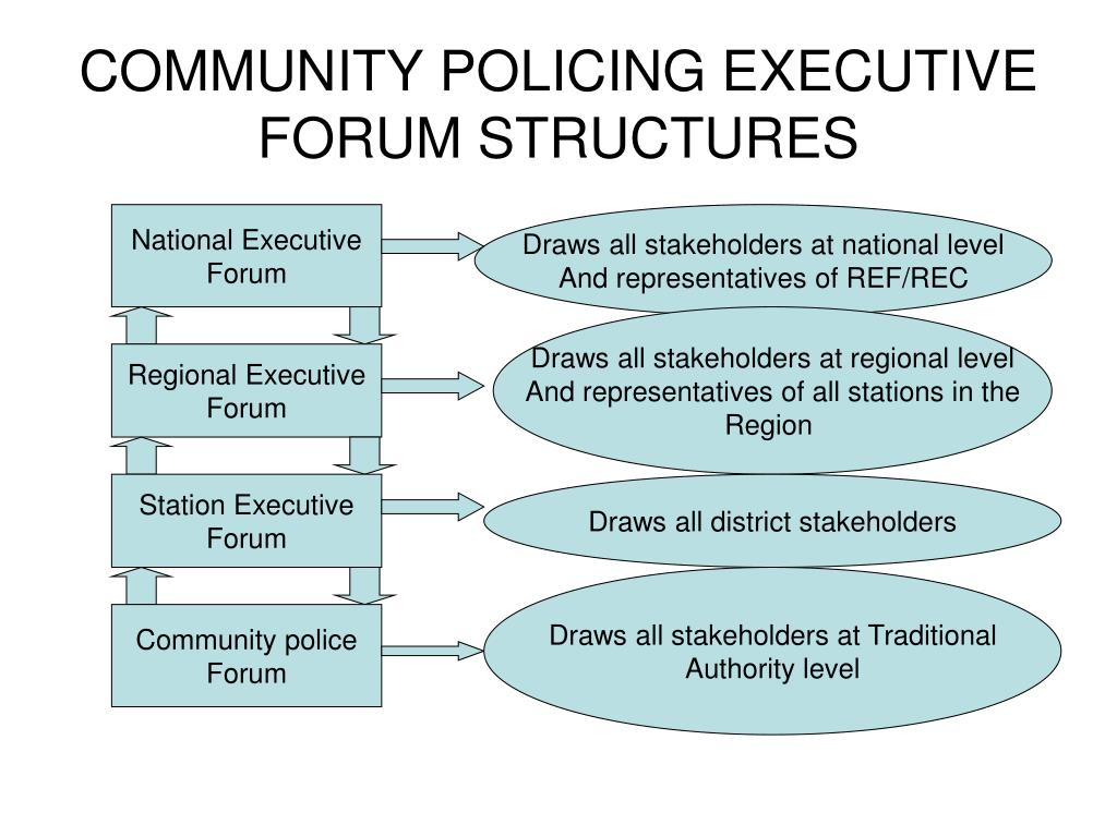 COMMUNITY POLICING EXECUTIVE FORUM STRUCTURES