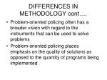 differences in methodology cont20