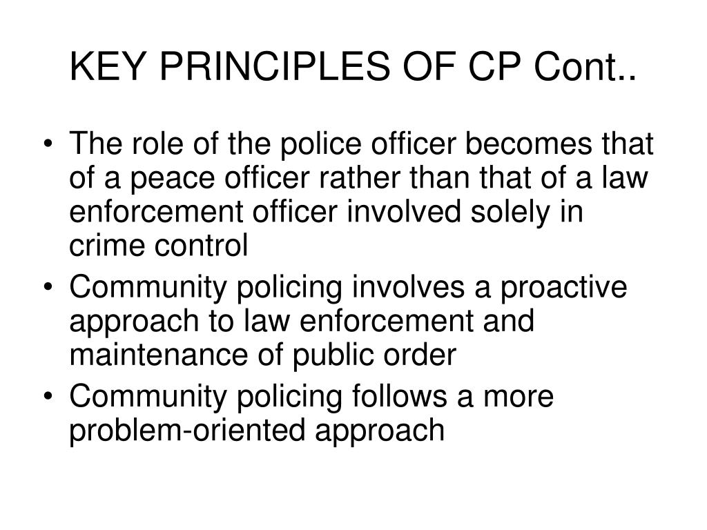 KEY PRINCIPLES OF CP Cont..