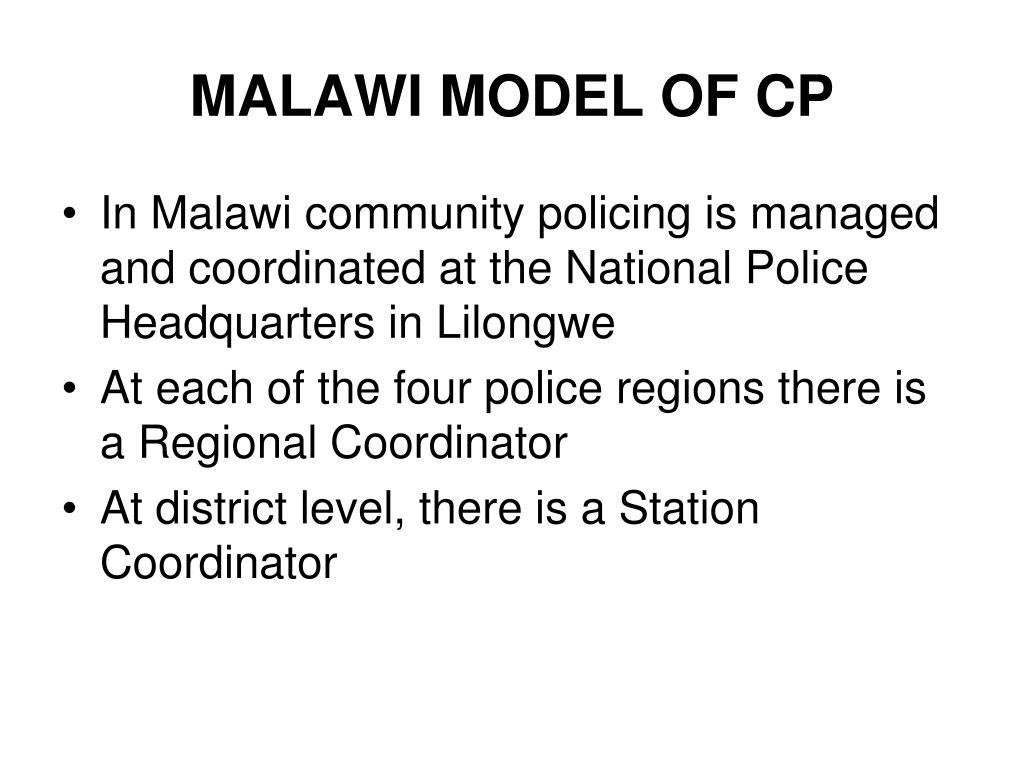 MALAWI MODEL OF CP