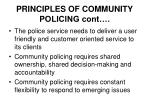 principles of community policing cont30