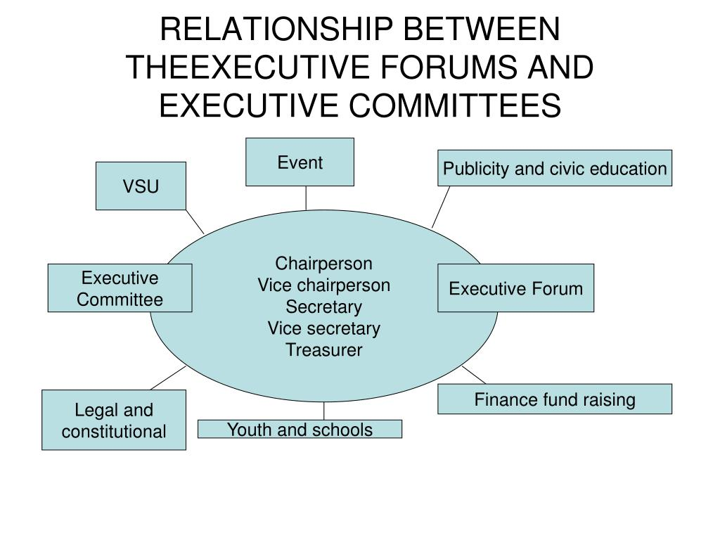 RELATIONSHIP BETWEEN THEEXECUTIVE FORUMS AND EXECUTIVE COMMITTEES