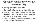 roles of community police forum cpf