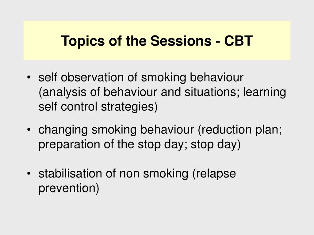 Topics of the Sessions - CBT