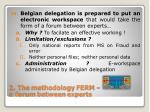 2 the methodology ferm a forum between experts