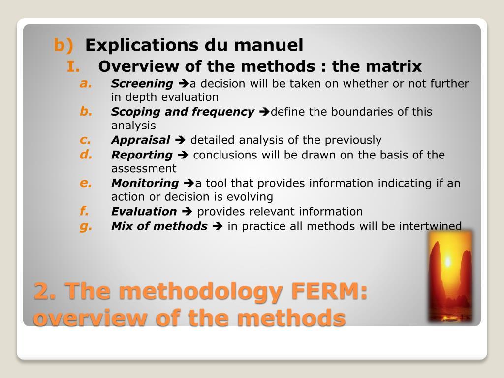 Explications du manuel