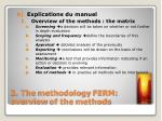 2 the methodology ferm overview of the methods