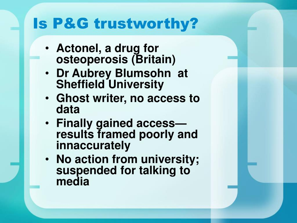 Is P&G trustworthy?