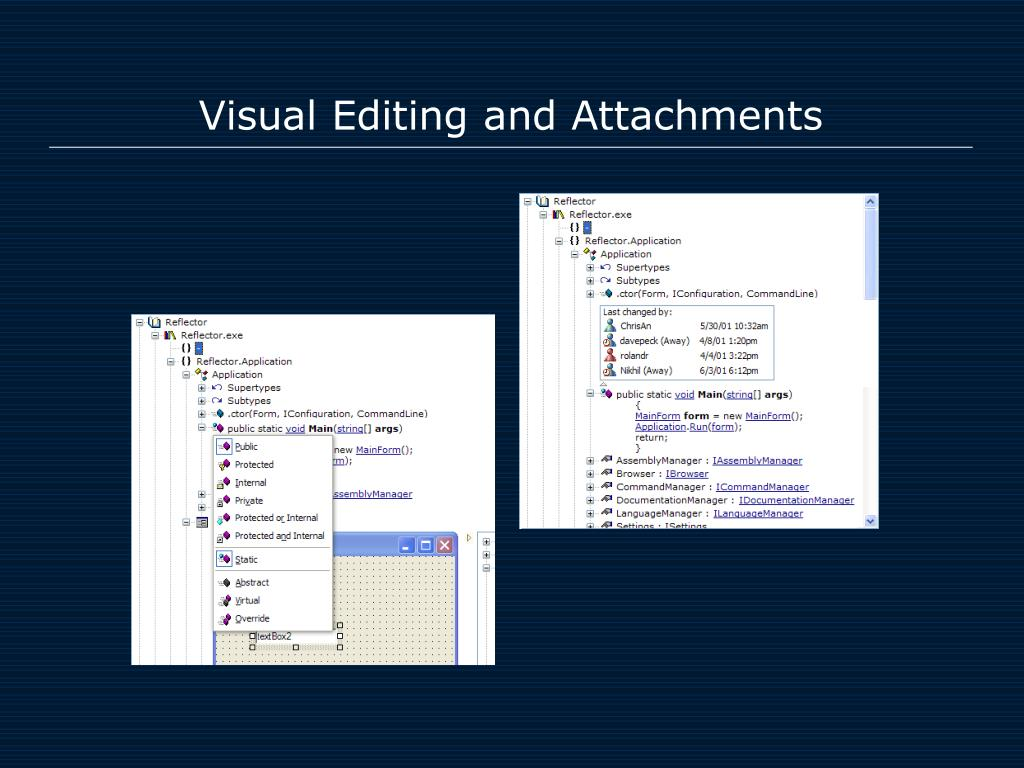 Visual Editing and Attachments