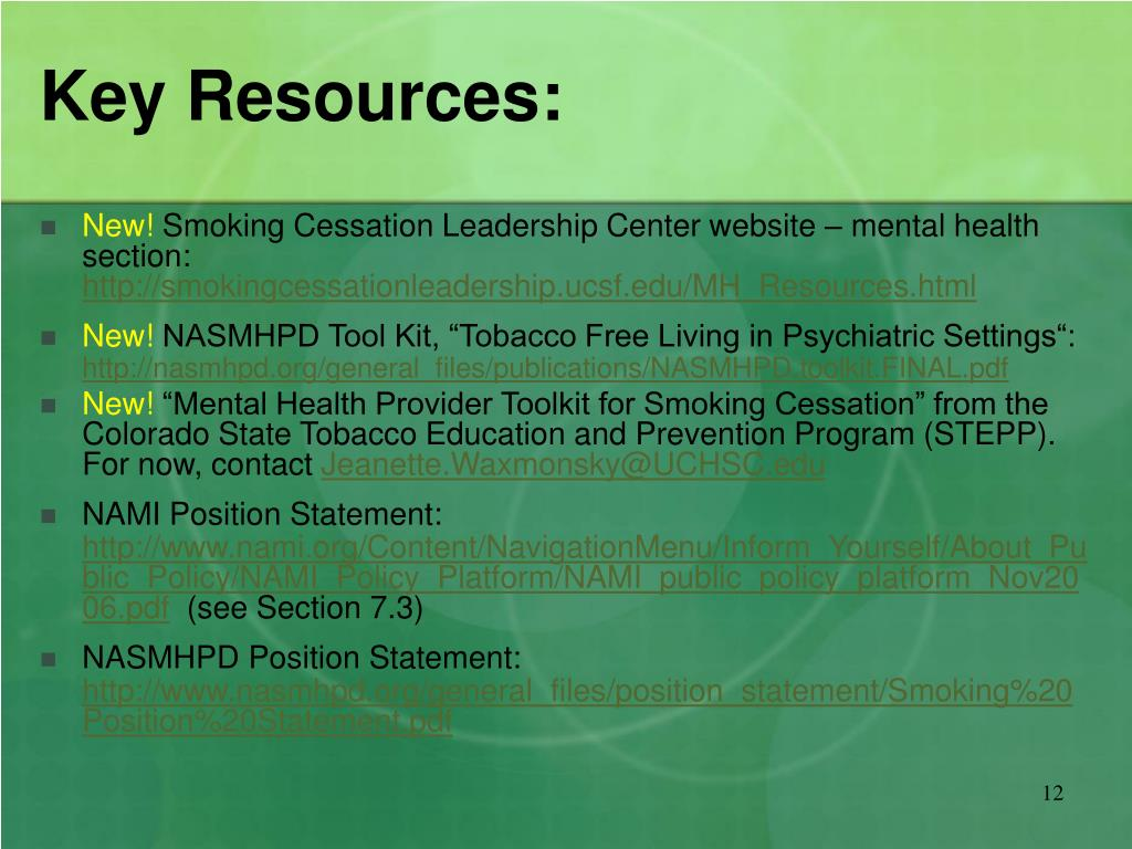 Key Resources: