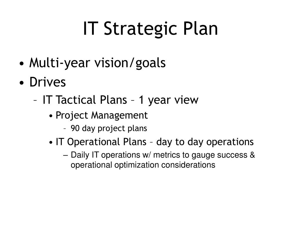 IT Strategic Plan