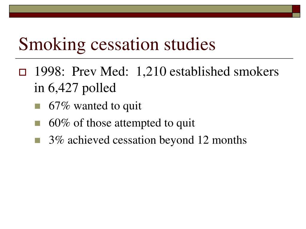 Smoking cessation studies