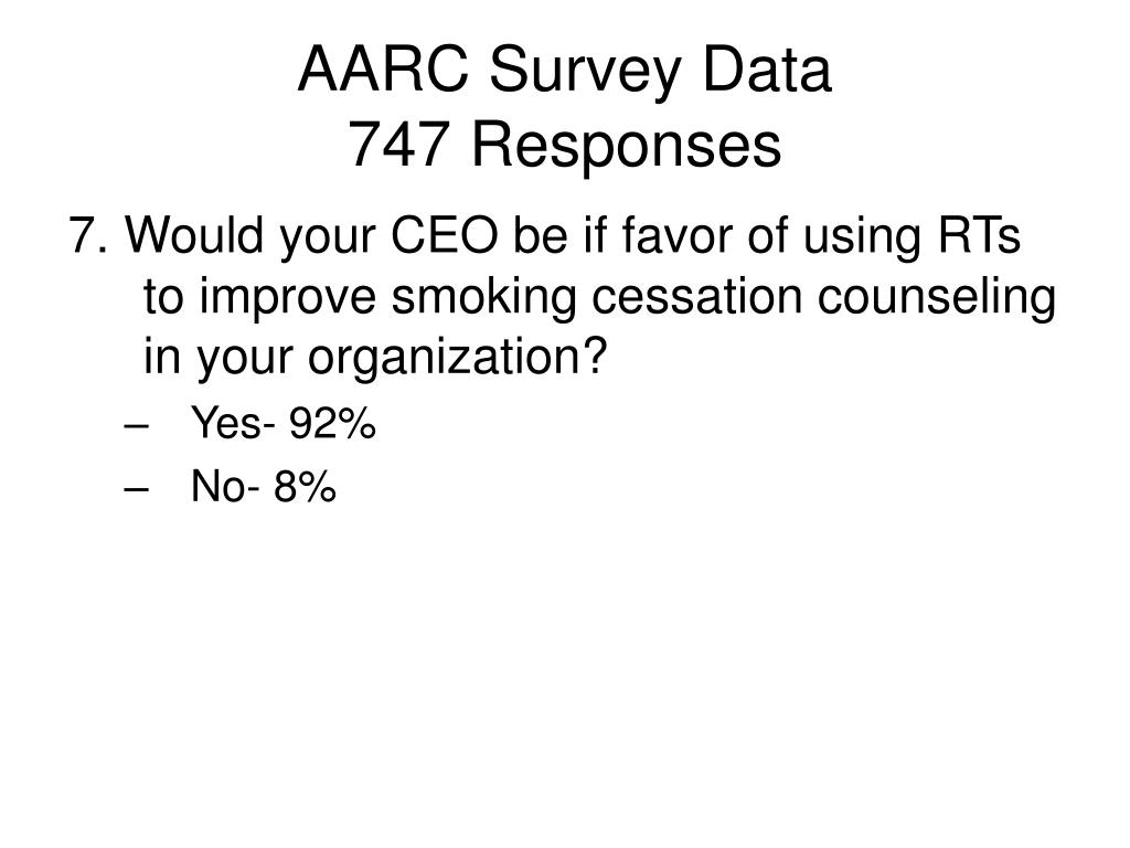 AARC Survey Data