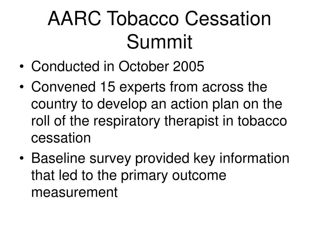 AARC Tobacco Cessation Summit