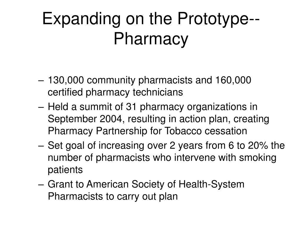 Expanding on the Prototype--Pharmacy