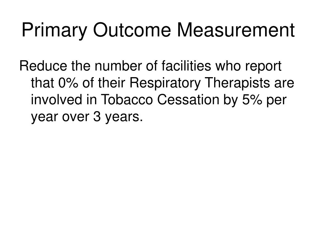 Primary Outcome Measurement