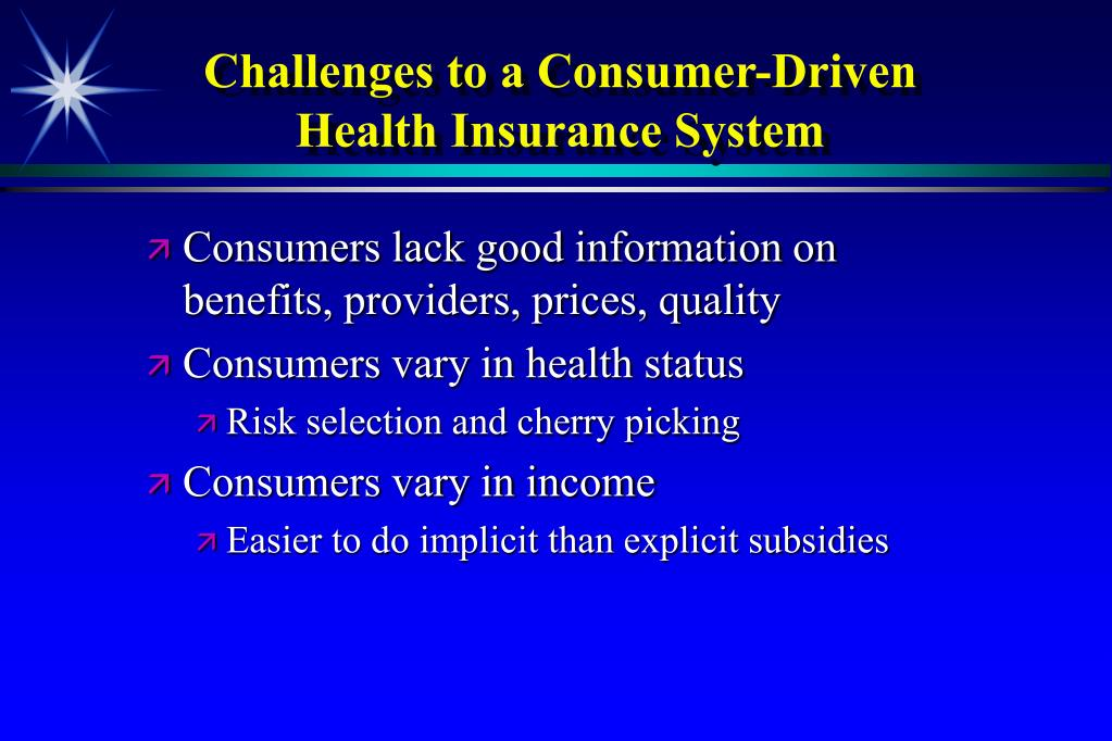 Challenges to a Consumer-Driven Health Insurance System