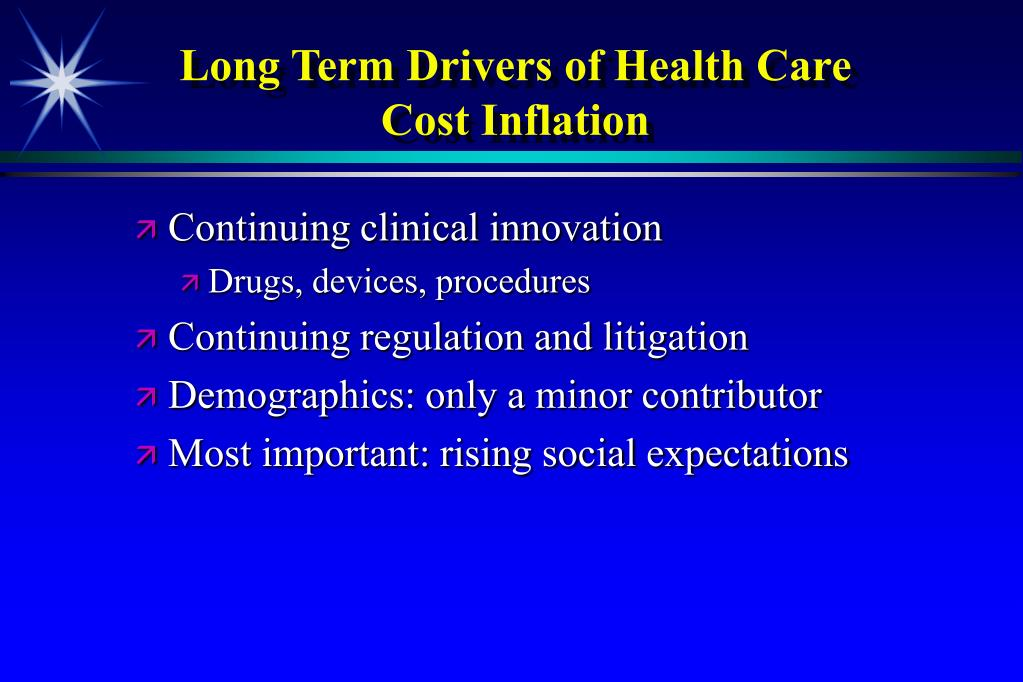 Long Term Drivers of Health Care Cost Inflation