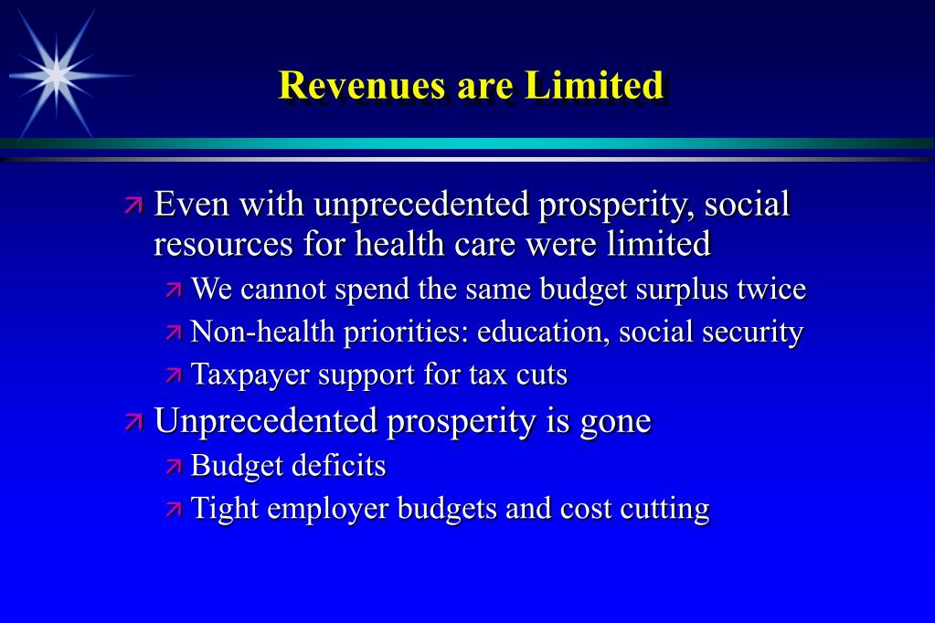 Revenues are Limited