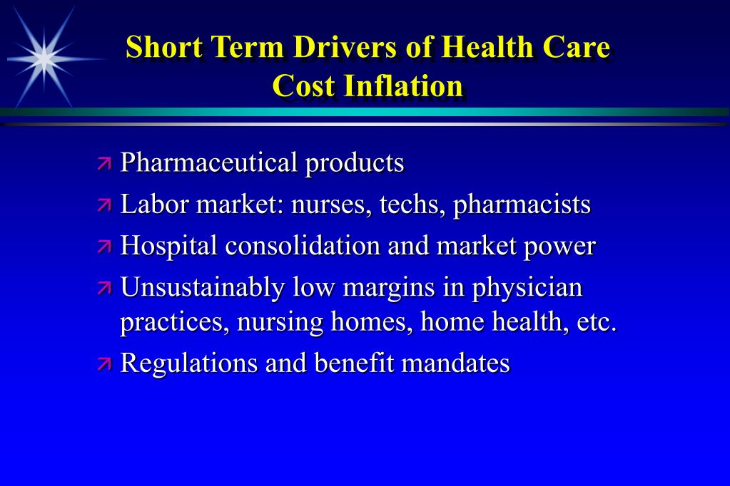Short Term Drivers of Health Care Cost Inflation