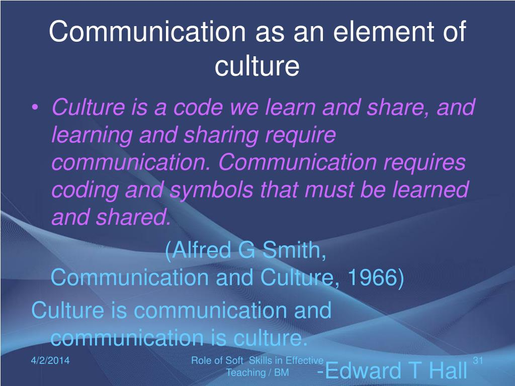 role of culture in communication A high level of interpersonal skills requires attention to our own level of self awareness in the age of workplace diversity and inclusion, it absolutely demands cross-cultural communication.