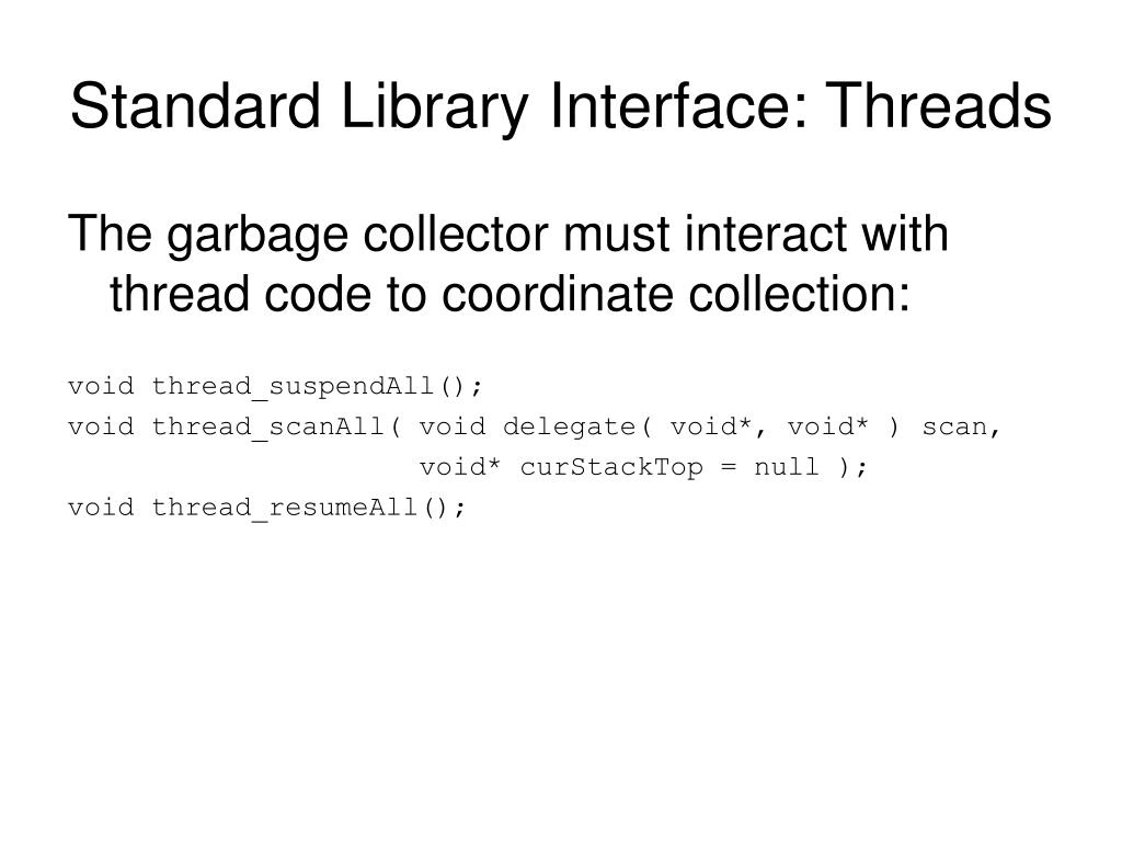 Standard Library Interface: Threads