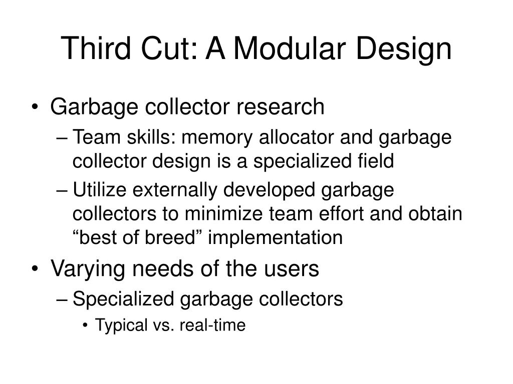 Third Cut: A Modular Design