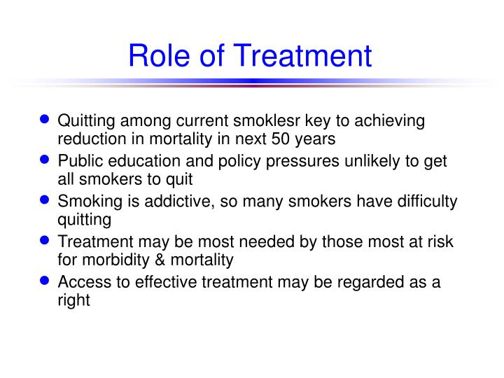Role of treatment