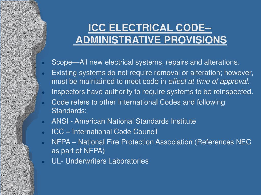 ICC ELECTRICAL CODE--