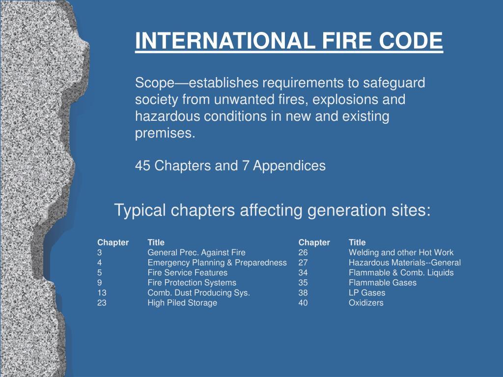 INTERNATIONAL FIRE CODE