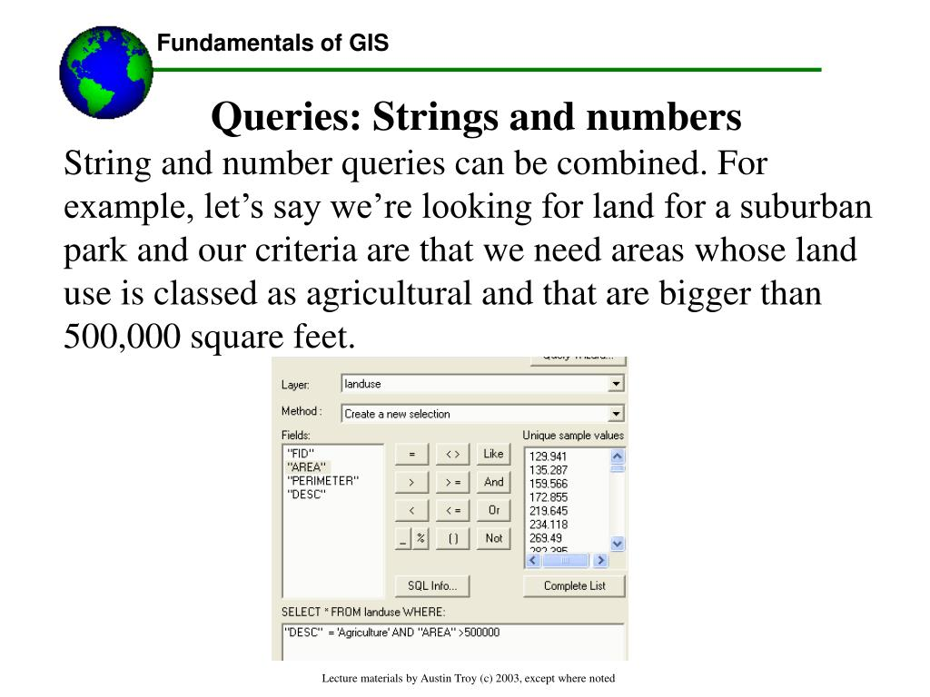 Queries: Strings and numbers