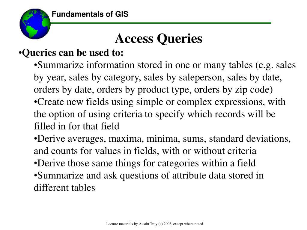 Access Queries