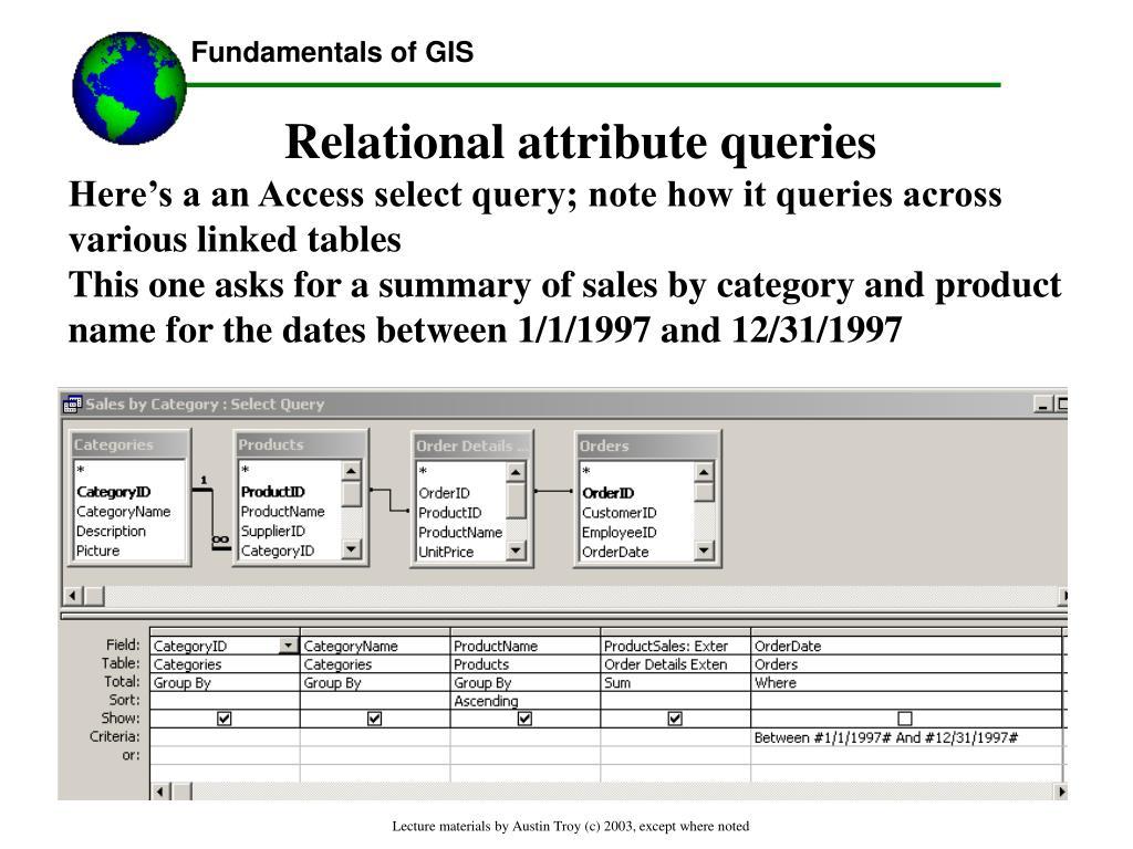 Relational attribute queries