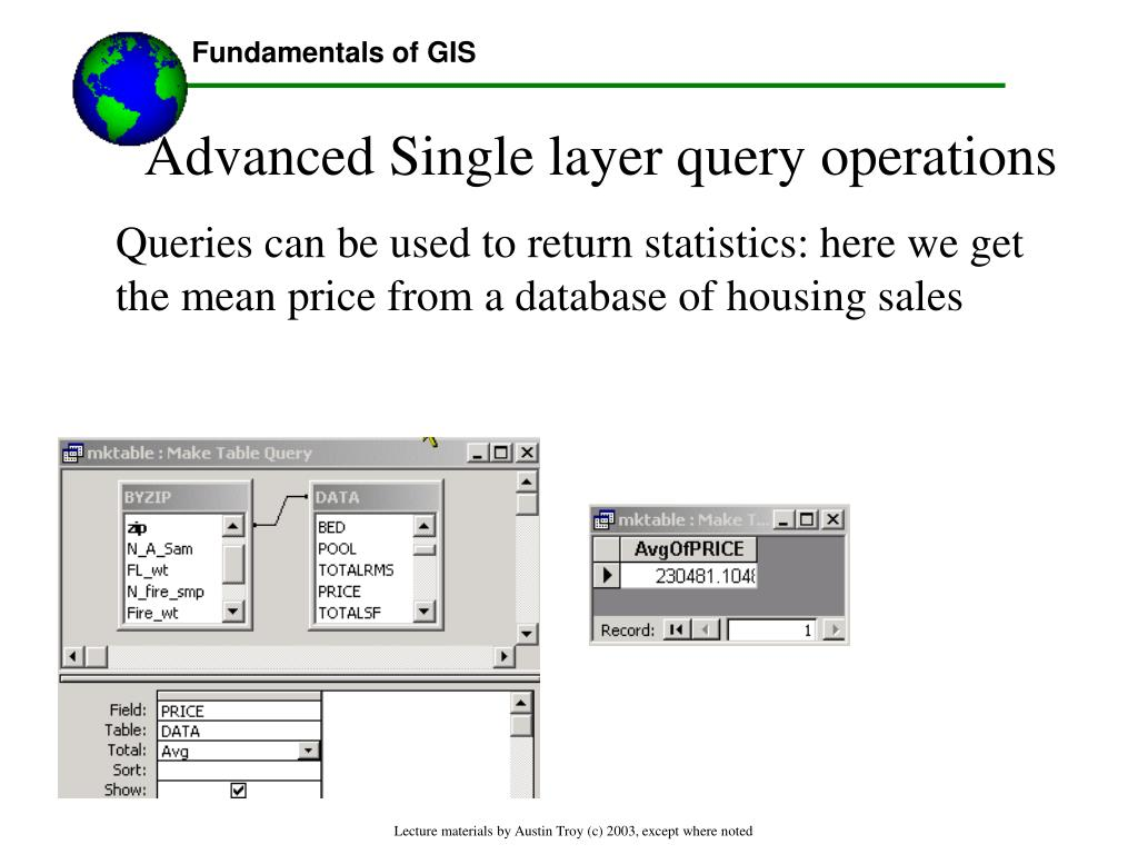 Advanced Single layer query operations